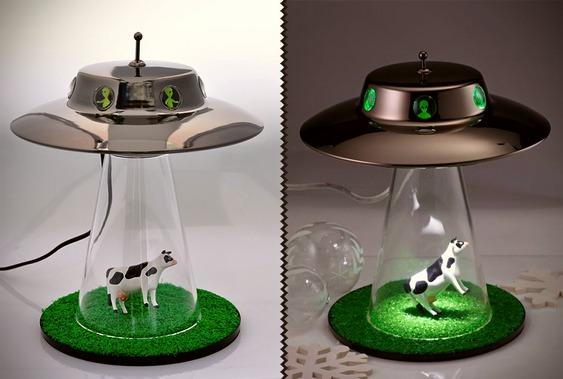 Disco voador sequestra gado