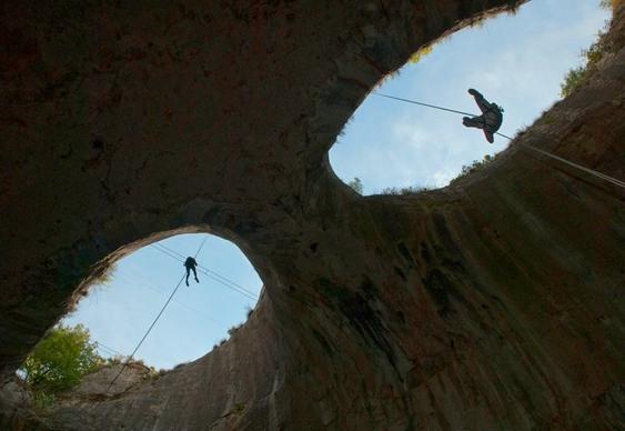 Escalada em grutas