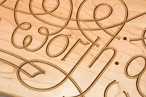 Letreiro tipográfico