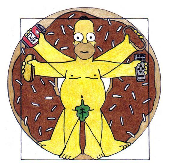 Homer Simpson - Leonardo Da Vinci