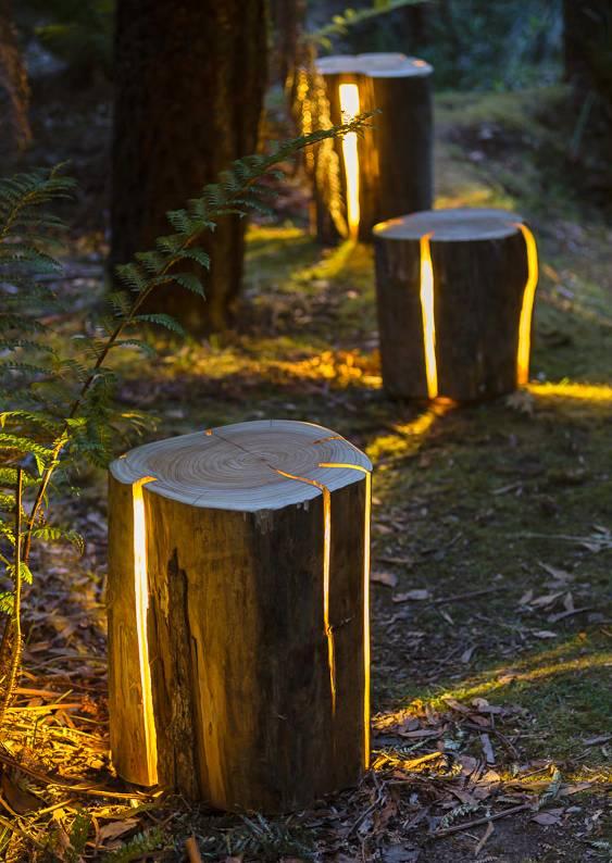 Reciclagem de troncos