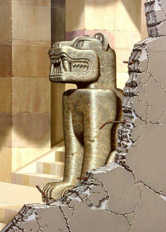 Estátua de fera 3D