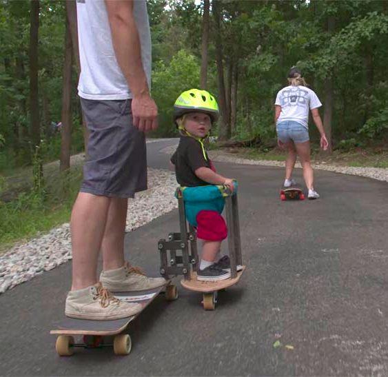 Skate com sidecar