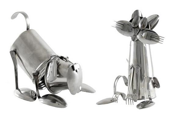 Reciclagem de garfos e colheres