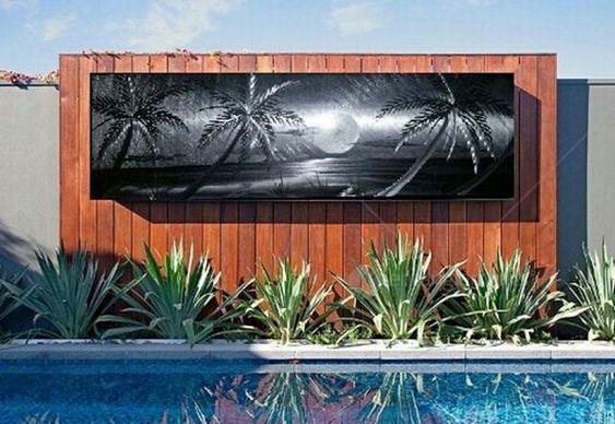 Decoração de piscina