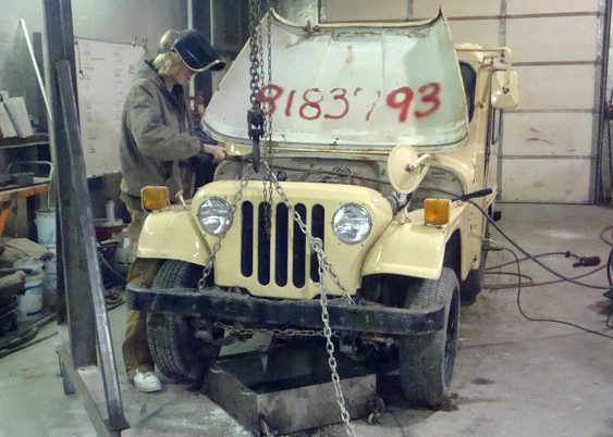 Jeep antigo fora de linha