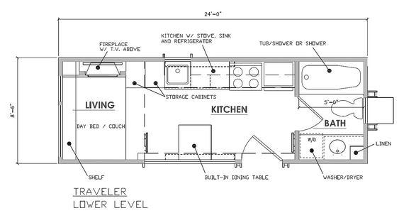 Projeto de casa a reboque