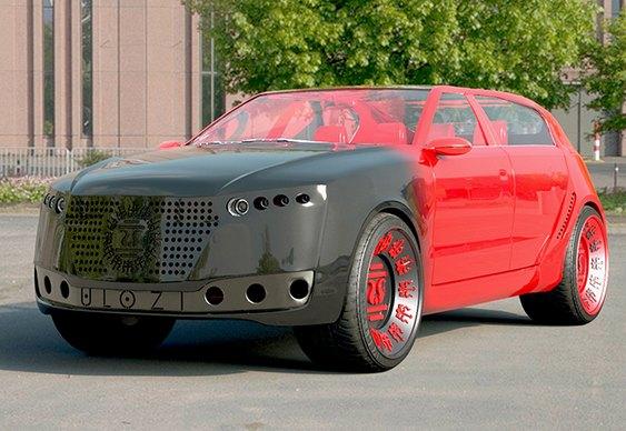 Carro elétrico de luxo