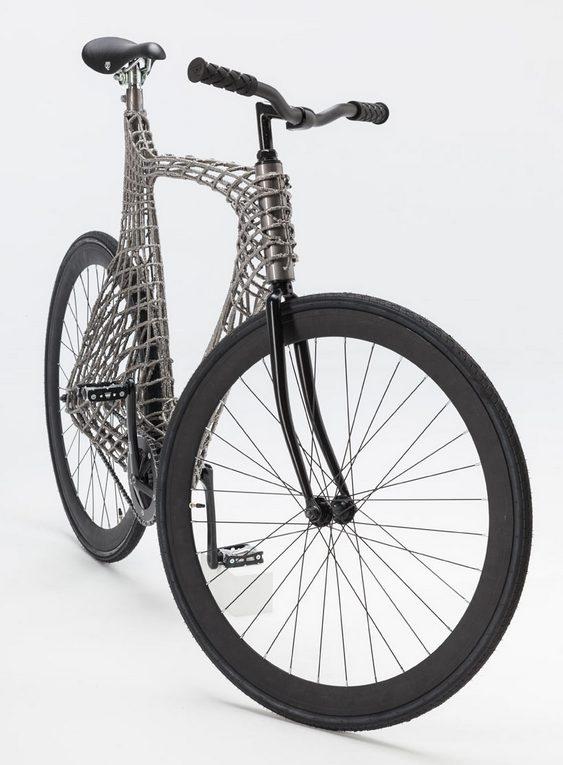 Quadro de bicicleta em tela metálica