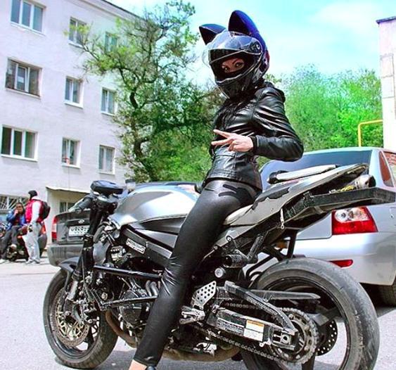 Gatinha de motocicleta