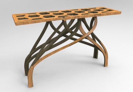 Modelagem de árvore como mesa