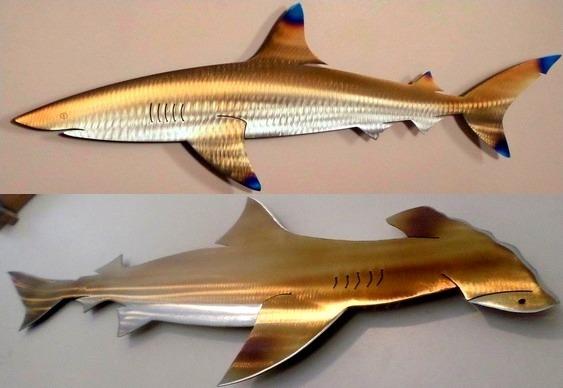 Tubarões com efeito 3D