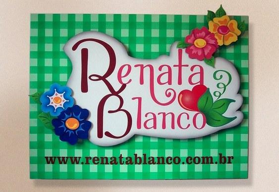 Letreiro Renata Blanco