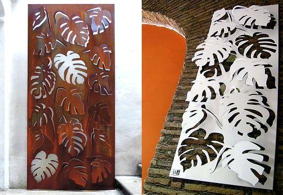 Plantas decorativas de aço