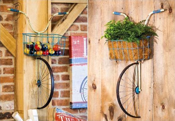 Bike enfeitando parede