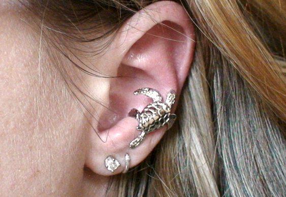 Brinco de encaixe por pressão na orelha