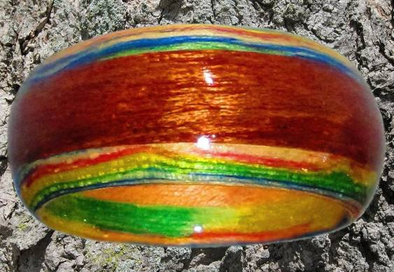 Bracelete de eucalipto arco-íris