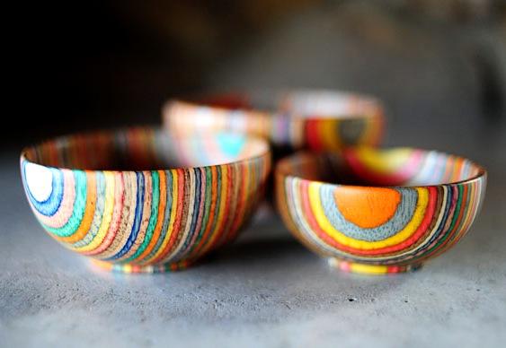 Artesanato com madeira colorida