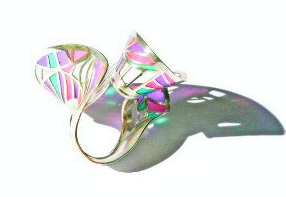 Origami transformado em joia