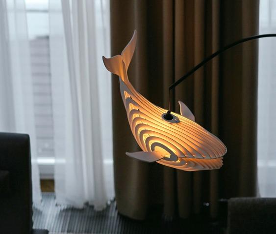 Luminária 3D de madeira ou metal