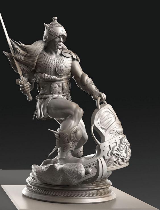 Guerreiro em jogo de xadrez
