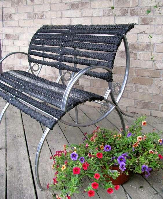 Cadeira com aros de bike