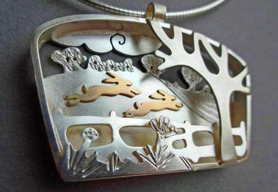 Joias de prata e ouro