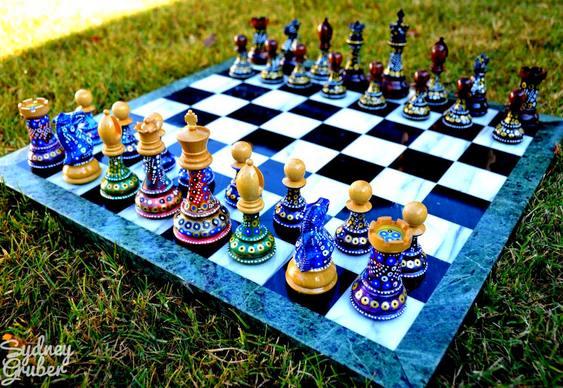 Jogo de xadrez reciclado