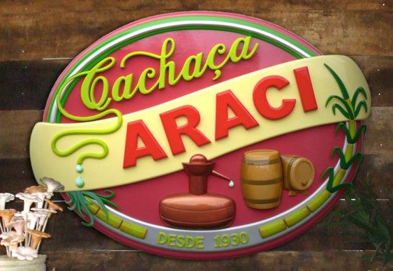 Letreiro da Cachaça Araci