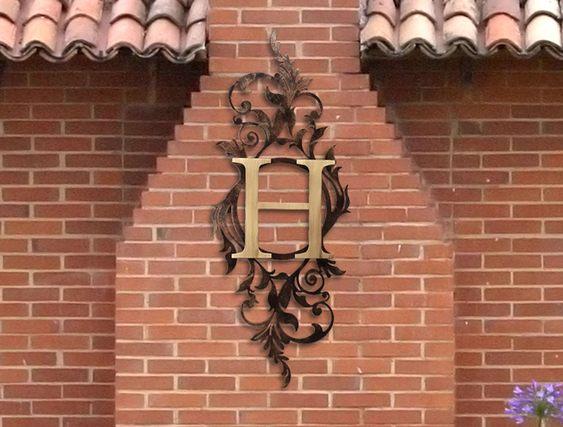 Painel com monograma ou logomarca