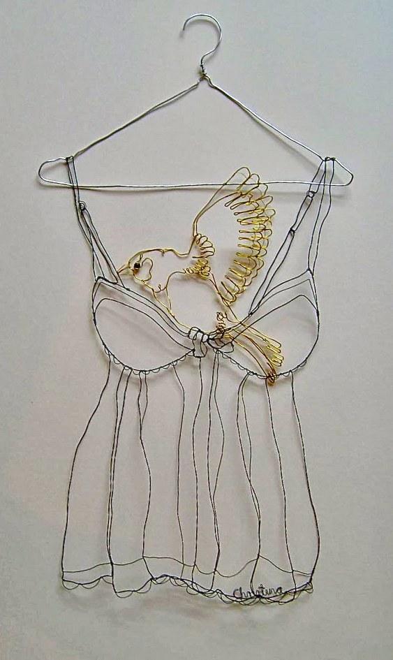 Escultura 3D de arame