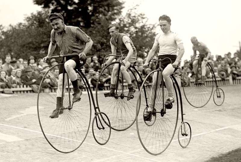 Penny-Farthing racing bikes