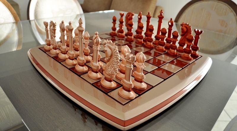 Jogo de xadrez para decoração