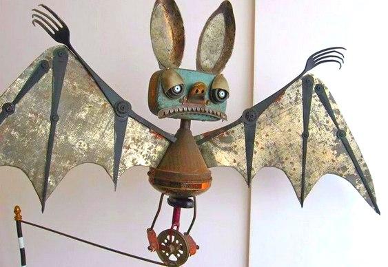 Escultura de morcego