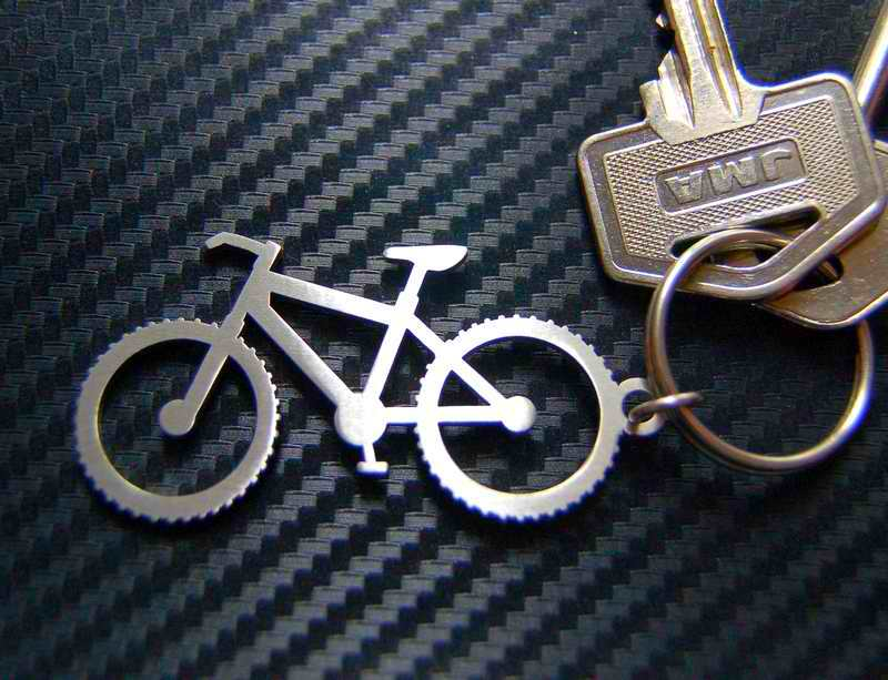 Chaveirinho com bicicleta