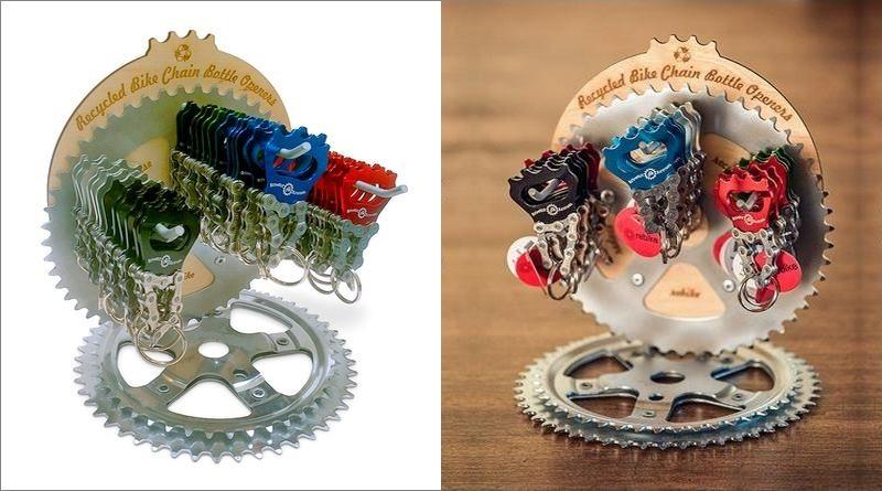Expositor para chaveiros ciclísticos