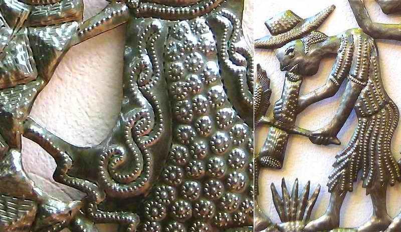 Reciclagem artística de barril de metal