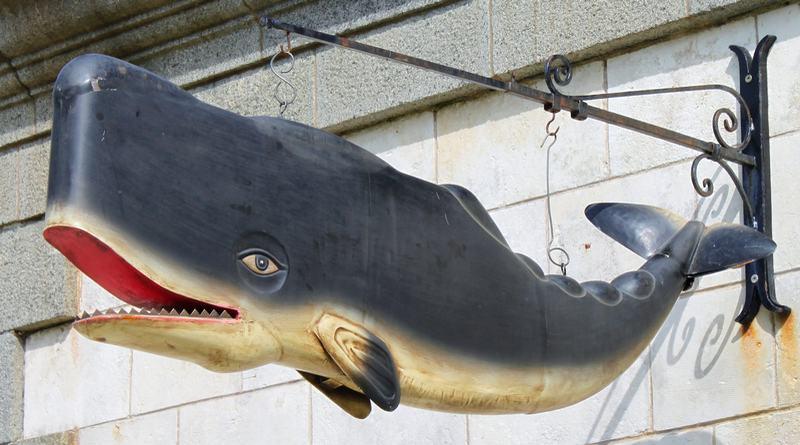 Painel vintage com baleia