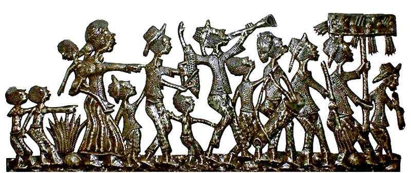 Desfile de bloco carnavalesco