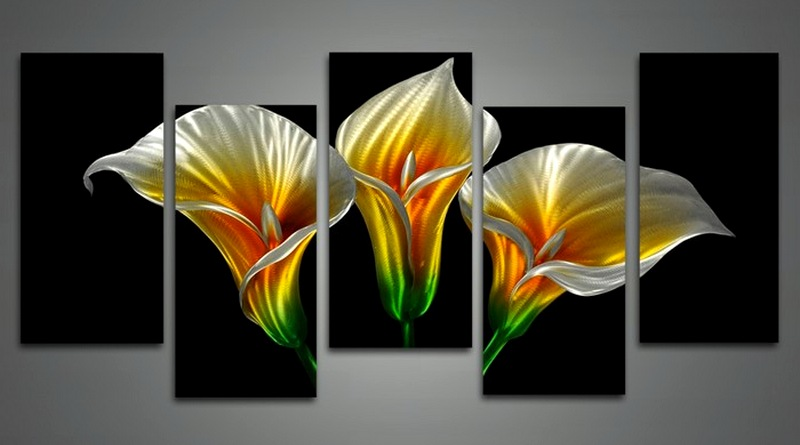 Flor de alumínio escovado