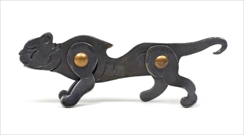 Escultura de gato selvagem
