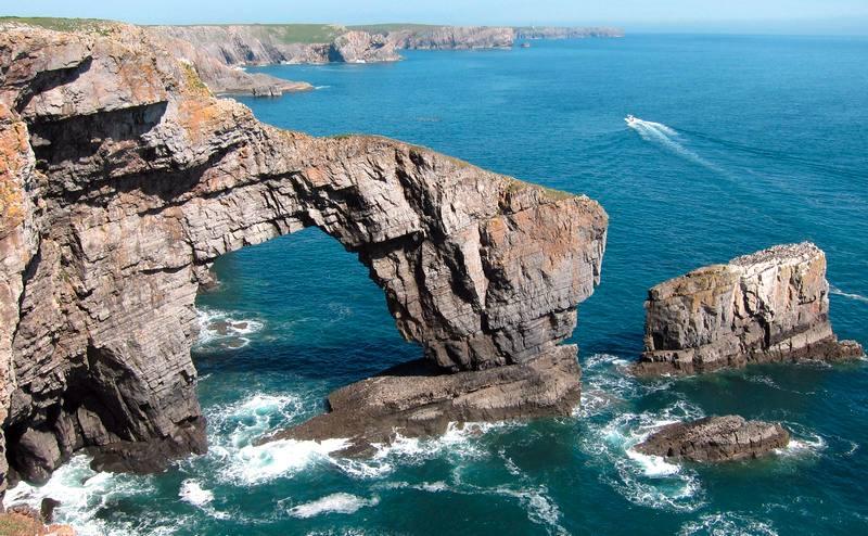 Falésias no País de Gales