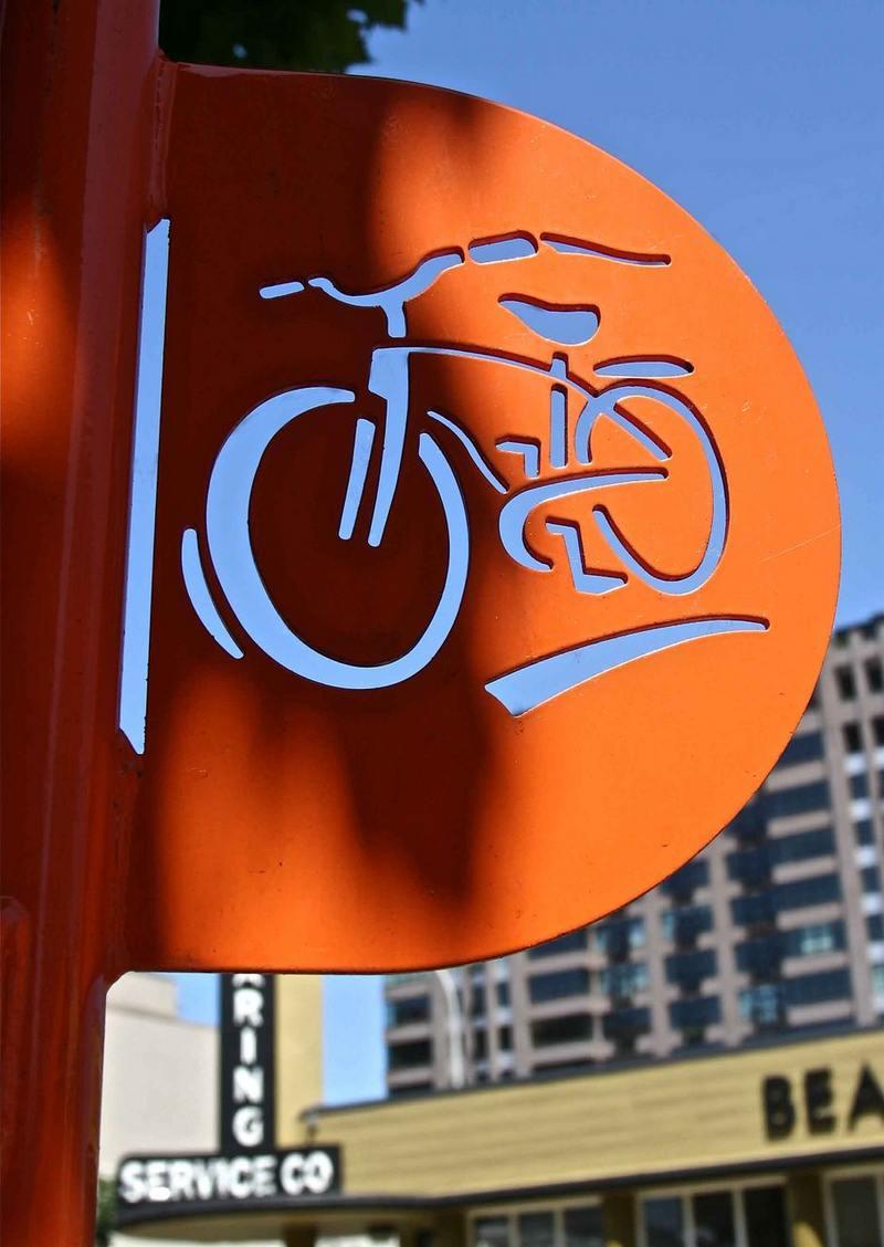 Placa para loja de bicicletas