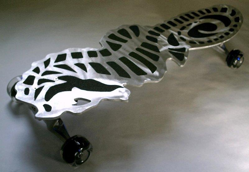 Skate de alumínio