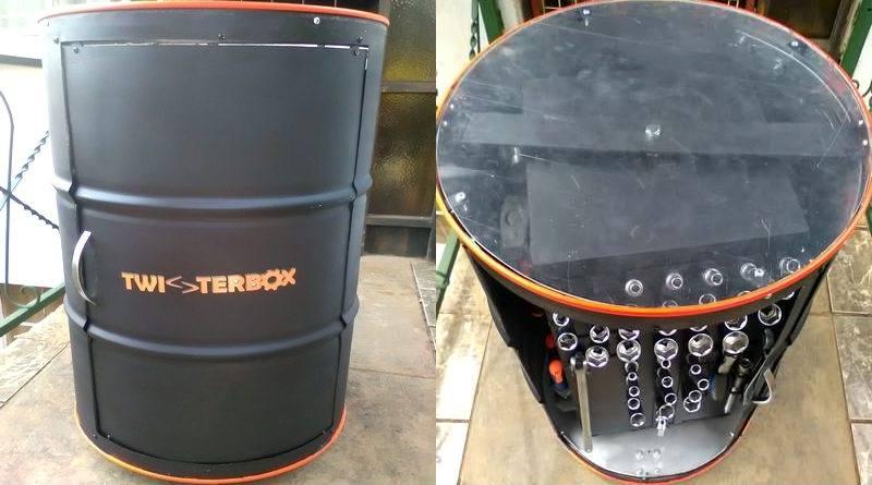 Barril de petróleo reciclado
