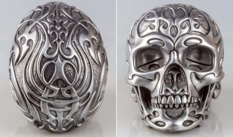 Escultura de crânio