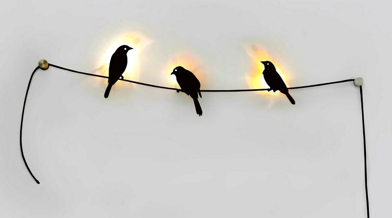 Silhuetas de passarinhos