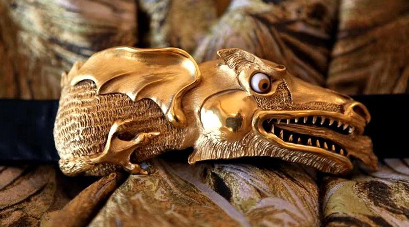 Escultura de monstro tridimensional