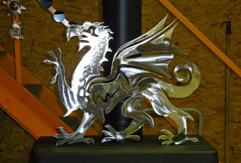 Escultura em chapa de aço
