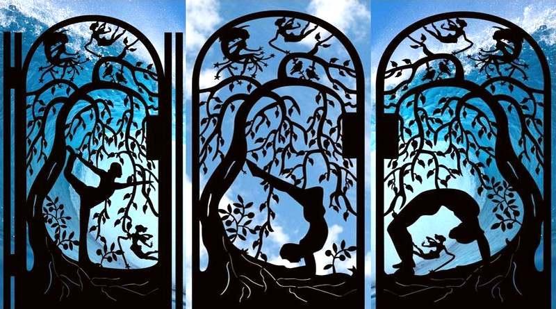 Portões de metal ioga